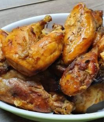 Tárcsán készült mézes-mustáros csirke